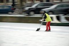 метельщик льда Стоковое Фото
