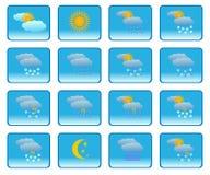 метеорология икон Стоковые Изображения