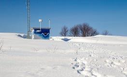 Метеорологическая станция зимы Стоковое Изображение RF