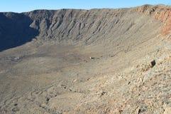 метеор кратера Аризоны Стоковая Фотография