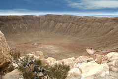 метеор кратера barringer Аризоны Стоковые Фото