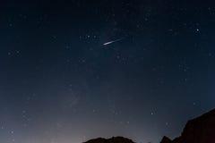 Метеор, черно-белая пустыня, Египет Стоковые Изображения RF