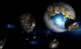 метеор Иллюстрация штока