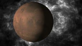 метеор 3d и планета Стоковое Изображение