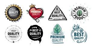 Метка вектора самого лучшего качества продукта нарисованного вручную бесплатная иллюстрация