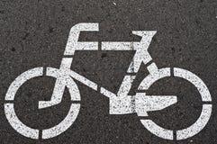 Метка велосипеда на улице Стоковое Изображение