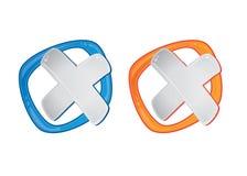 Метка x в пузыре дизайна иллюстрация вектора