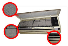 Метка зоны условия воздуха пакостная Стоковое фото RF