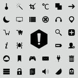 метка иконы возгласа 3d представляет Детальный комплект minimalistic значков Наградной графический дизайн Один из значков собрани бесплатная иллюстрация
