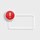 метка иконы возгласа 3d представляет Стоковые Изображения RF