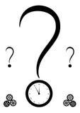 Метка и часы запроса иллюстрация вектора
