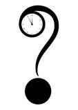 Метка и часы запроса иллюстрация штока
