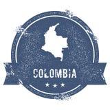 Метка Колумбии иллюстрация вектора
