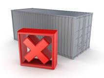 Метка контейнера и Красного Креста. иллюстрация штока