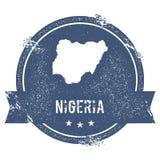 Метка Нигерии иллюстрация вектора