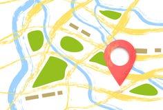 Метка положения Состав с указателем карты также вектор иллюстрации притяжки corel бесплатная иллюстрация