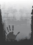 метка руки grunge иллюстрация штока