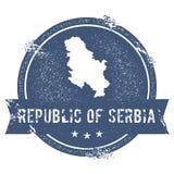 Метка Сербии иллюстрация вектора