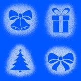 Метка снега рождества возражает на комплекте сини бесплатная иллюстрация