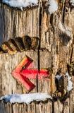 Метка стрелки Стоковое Фото
