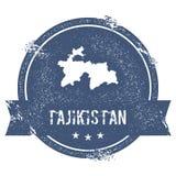Метка Таджикистана иллюстрация штока