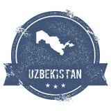 Метка Узбекистана иллюстрация вектора