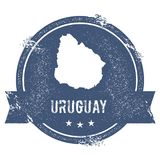 Метка Уругвая иллюстрация штока