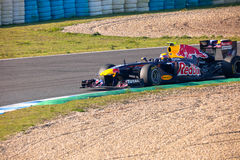 метка 2011 быка f1 участвуя в гонке красное webber команды Стоковое Изображение RF