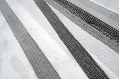 Метки автошины зимы Стоковая Фотография RF