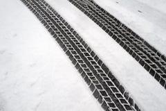 Метки автошины зимы Стоковые Фотографии RF