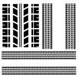 Метки автошины изолированные на белой предпосылке Стоковое Изображение