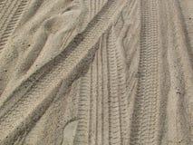 Метки в песке стоковые фотографии rf