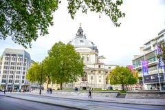 Методист центральный Hall центральный Hall Вестминстер, универсальное место и достопримечательность в городе Вестминстера, Лондон стоковое фото rf