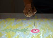 Метод искусства - мраморизующ - абстрактное дерево Стоковое Фото