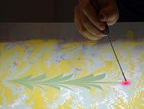 Метод искусства - мраморизующ - абстрактное дерево Стоковые Фотографии RF
