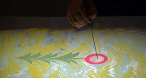 Метод искусства - мраморизующ - абстрактное дерево Стоковая Фотография RF