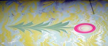 Метод искусства - мраморизующ - абстрактное дерево Стоковая Фотография
