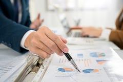 Метод мозгового штурма команды дела корпоративный, планируя стратегия имея вклад анализа обсуждения исследуя с диаграммой на офис стоковые изображения