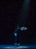 метод вентилятора народного танца Гусын-пера вентилятор-божественный Эмиссар-китайский Стоковое Фото