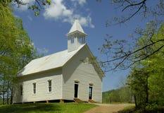 Методист церковь в бухте Cades закоптелых гор, TN, США Стоковая Фотография RF