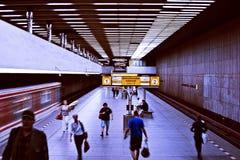 Методология Праги где люди ждут их поезд Стоковая Фотография RF