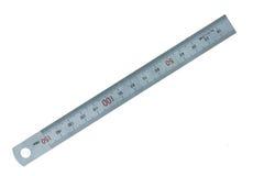метрическая сталь правителя Стоковая Фотография RF