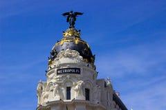 Метрополия - Мадрид стоковое изображение