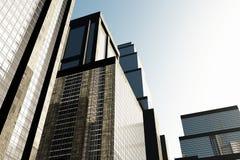 метрополия 03 3d представляет skyscrapesrs Стоковые Фотографии RF