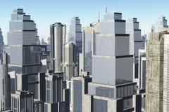Метрополия 3D представляет Стоковая Фотография