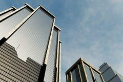 метрополия 3d представляет skyscrapesrs Стоковое фото RF