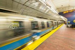 Метро быстро проходя - вверх, Бостон стоковые изображения