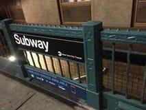 метро в Нью-Йорке стоковые изображения rf