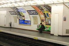Метро в Париже Стоковое Фото