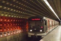 Метро в Праге, чехии Стоковые Изображения RF